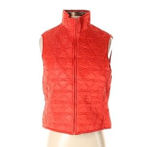 J. Crew Red Embroidered Vest